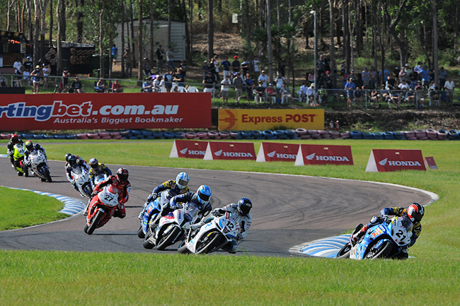Team Suzuki's Josh Waters was back to his best at Darwin last weekend, heading an all-star Superbike field. Image: Keith Muir.