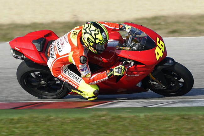 Valentino Rossi, seen here testing the 1198 earlier this year, has a lot of pressure on his shoulders to perform with Ducati in 2011.