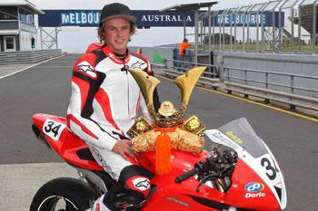 Honda's Josh Hook awarded 2012 RK Chains Samurai Trophy