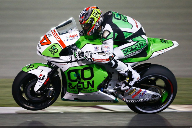 Bryan Staring in his debut MotoGP outing under the lights of Losail. Image: MotoGP.com