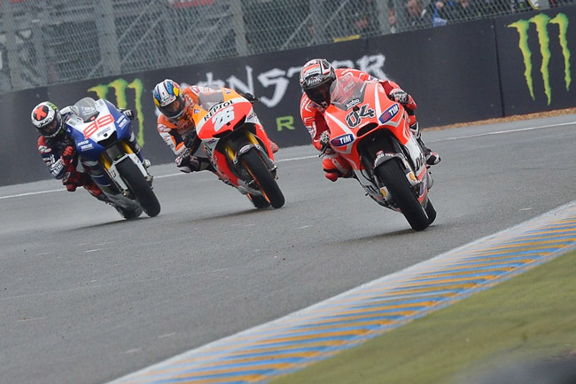 With another wet race on the cards is the MotoGP podium in for a shake-up in Italy? Image: MotoGP.com.