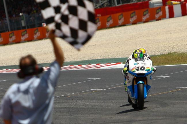 The Moto2 battle went to the wire between the HP Tuenti teammates. Image: MotoGP.com.