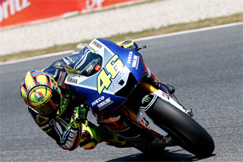 Rossi quickest on Friday at Catalunya from Lorenzo and Pedrosa