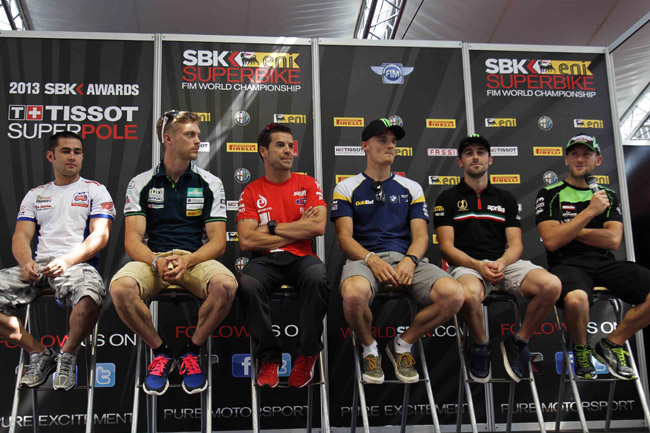 A mix of manufacturers represented at the pre-event media conference for Silverstone.