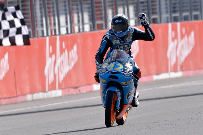 Alex Marquez broke through for his first Moto3 win in Japan.