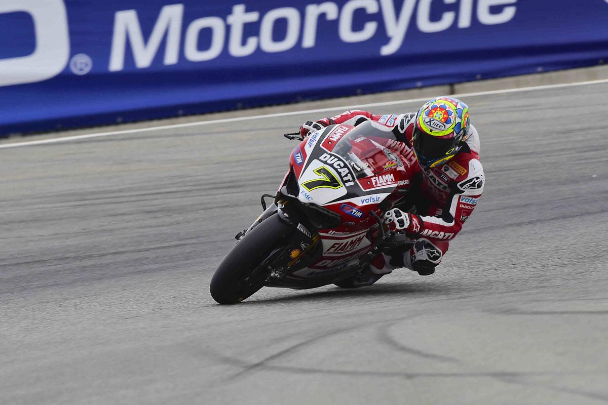 Davies puts Ducati on top during day one at Laguna Seca ...