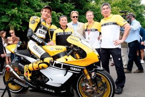 Rossi rides 60th anniversary YZR-M1 at Goodwood