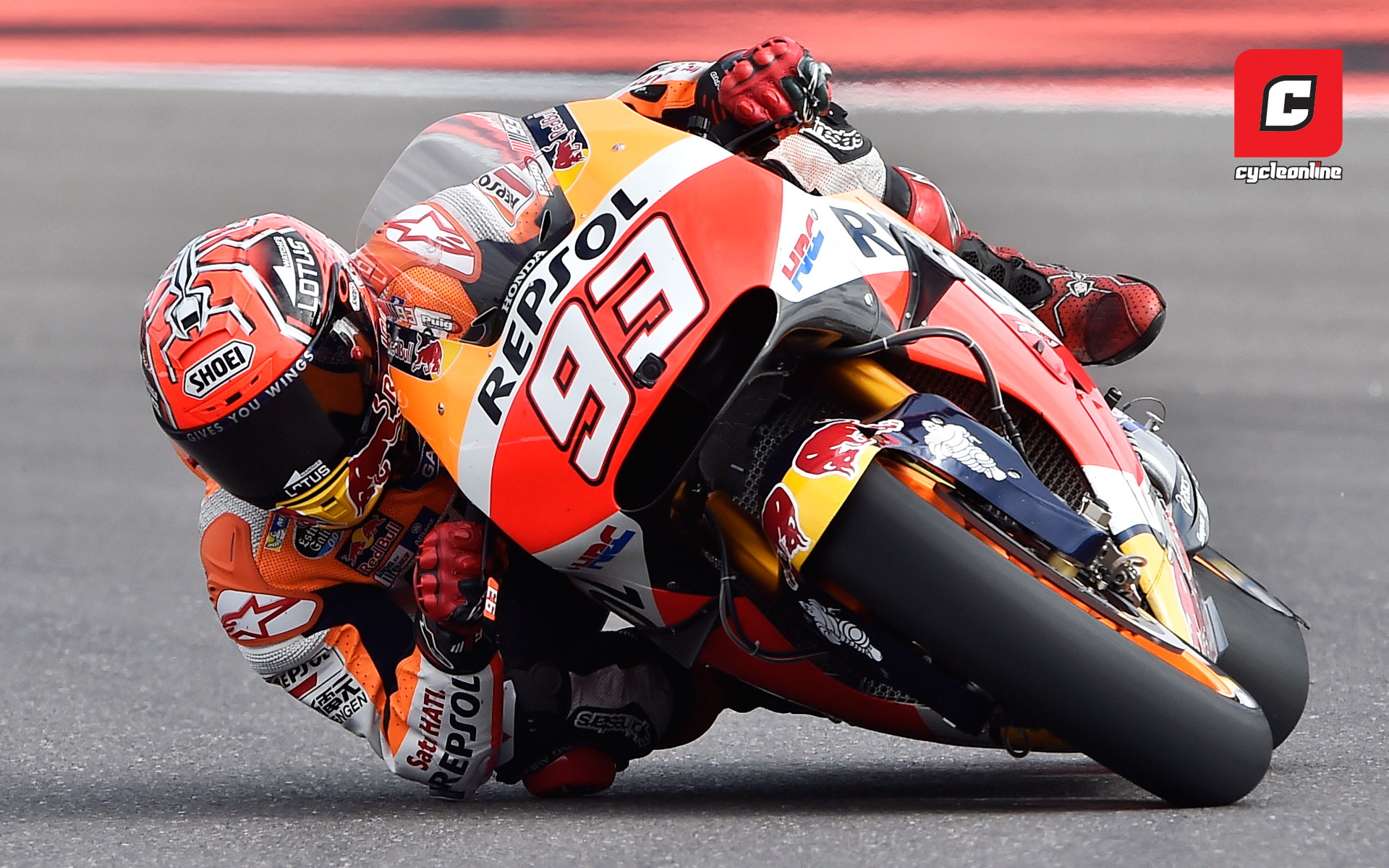 Wallpaper marc marquez cycleonline repsol hondas marc marquez was in top form the 2013 and 2014 world champion was fast throughout practice claimed pole and won the race convincingly voltagebd Images