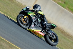 Cube Racing riders stand on Sydney ASBK Supersport podium