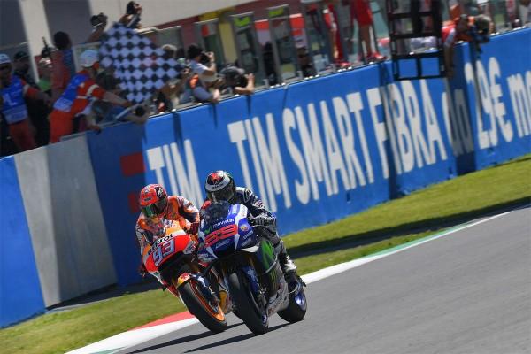 Lorenzo edges out Marquez in Mugello final lap thriller