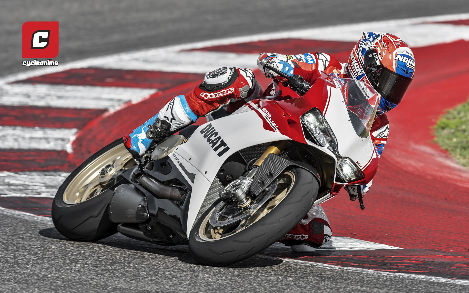 The Brand New Ducati 1299 Panigale S Anniversario Was Introduced At World Week As Australias Casey Stoner Debuted It On Track Among Festivities
