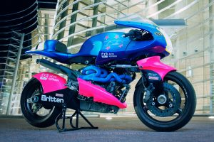 Britten V1000 heading to Island Classic for demonstration laps