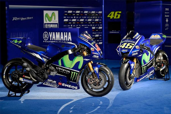 Movistar Yamaha uncovers 2017 MotoGP livery of Rossi and Vinales