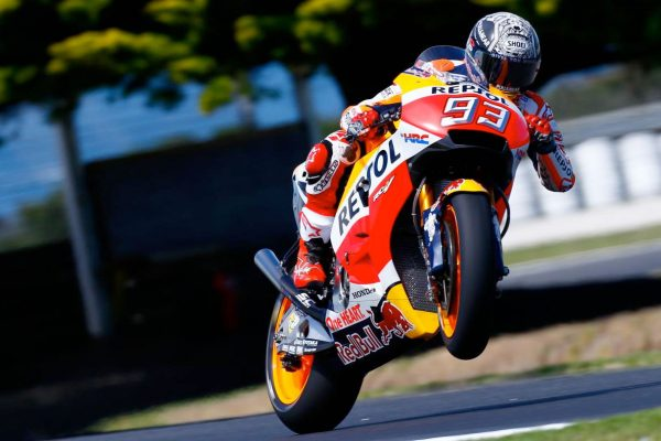 Marquez sets Phillip Island MotoGP test pace on day one