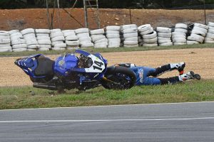Allerton injured during Wakefield Park ASBK practice