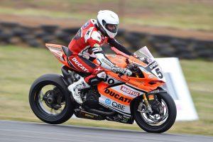 DesmoSport Ducati's Spriggs P12 on Wakefield grid