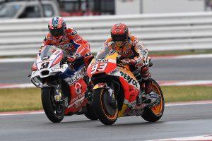 Marquez ties Dovizioso in MotoGP points with Misano victory