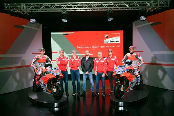 Updated appearance for 2018 Ducati MotoGP contender