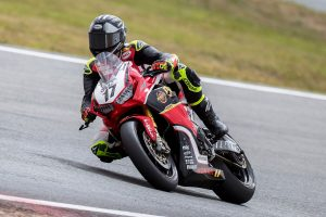 Penrite Honda Racing's Herfoss leads ASBK into the bend