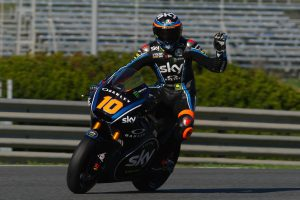 Marini tops maiden Triumph-powered Moto2 test in Jerez