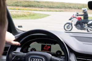 Ducati showcases car-to-bike communication technology