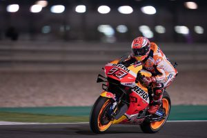 Marquez leads Qatar MotoGP practice with record-breaking lap