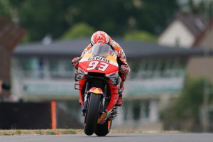 Marquez fastest in MotoGP practice at the Sachsenring