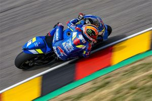 Rins crashes out of podium contention in Germany
