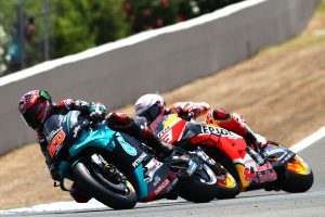 Quartararo breaks through as Marquez injured in MotoGP opener