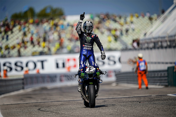 Vinales holds steady for victory during Misano mayhem